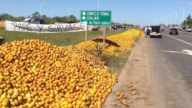 Orangen an der Strasse in Paraguay
