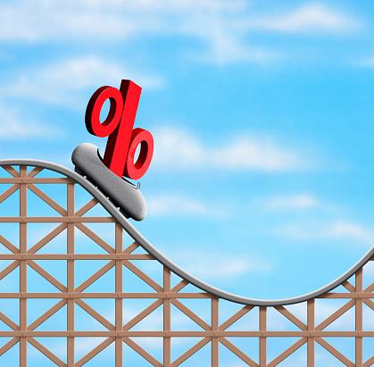 Achterbahn sinkender Zinsen